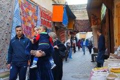 Calles y souks de la medina de Fez, Marruecos