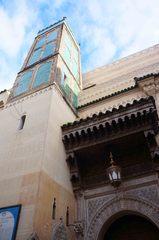 Torre de una mezquita en la medina de Fez, Marruecos