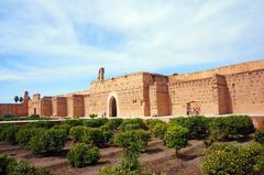 Jardines centrales del Palacio El Badi, Marrakech