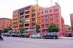 Edificios en la ville nouvelle de Marrakech