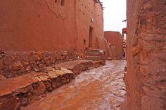 Calles del Ksar de Ait Ben Haddou, Marruecos