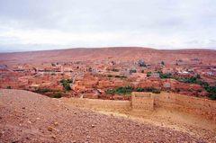 Vista desde el Ksar de Ait Ben Haddou, Marruecos