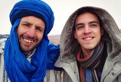 Un guía bereber en el Ksar de Ait Ben Haddou, Marruecos