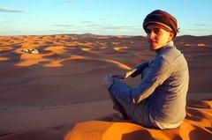 Dunas de Merzouga en el Sahara, Marruecos