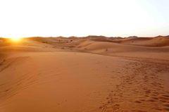 Amanecer en el Sahara, Marruecos