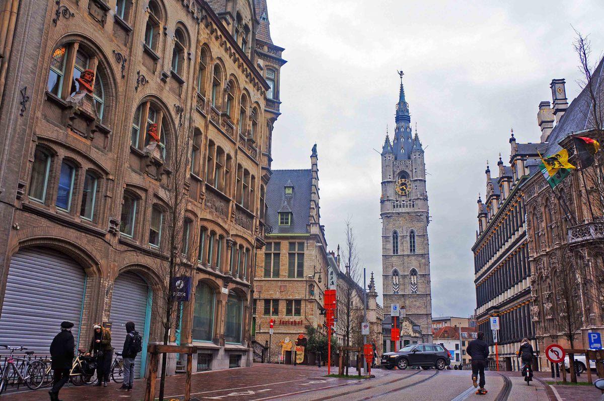 Centro histórico de Gante y su campanario