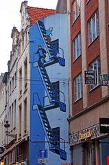 Mural de Tintin en Bruselas