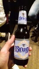 Cerveza de Brujas en el bar Delirium, Bruselas