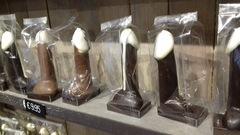 Exóticas figuras de chocolate en Brujas