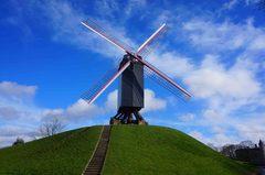 Molinos de viento en Brujas