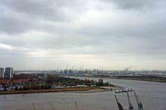 Vista del puerto de Amberes