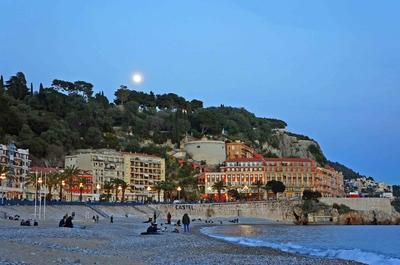 Anochecer en el monte Bobon, Niza
