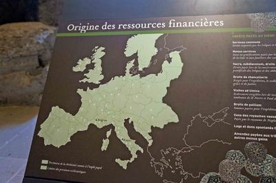 Mapa del financiamiento papal en Aviñón