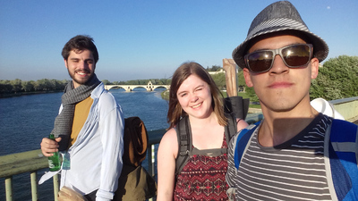 Sobre el río Ródano en Aviñón