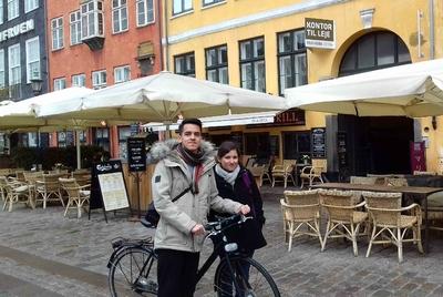Un paseo en bici por Nyhavn, Copenhague