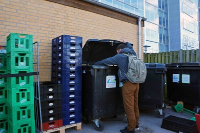 Dumpster diving en Odense
