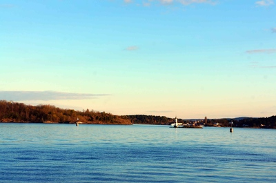 Bahía del fiordo de Oslo