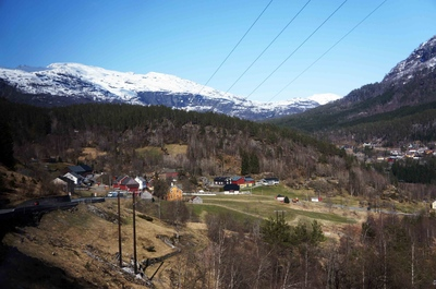 Paisajes de la carretera entre Oslo y Bergen, en Noruega