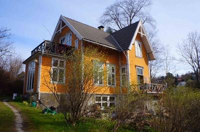 La casa de mis anfitriones en Bergen