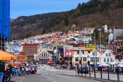 Calles del centro histórico de Bergen