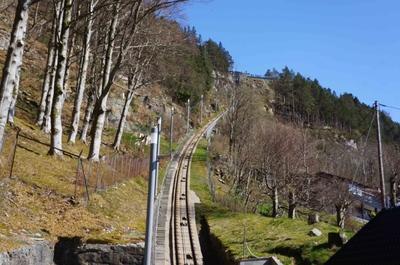 Funicular a la colina de Fløyen, en Bergen