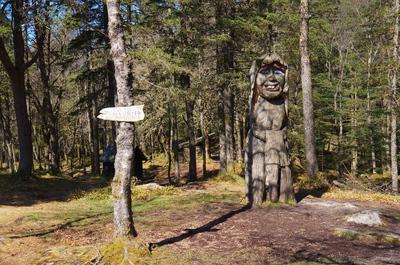 Parque en la colina de Fløyen, en Bergen
