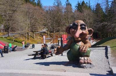 Parque de trolls en la colina de Fløyen, en Bergen