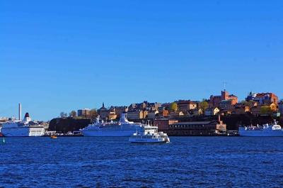 Vista de Södermalm desde el centro de Estocolmo