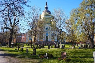 Iglesia en el Barrio de Södermalm en Estocolmo
