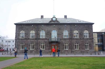 Alþingishúsið, palacio del Parlamento de Islandia