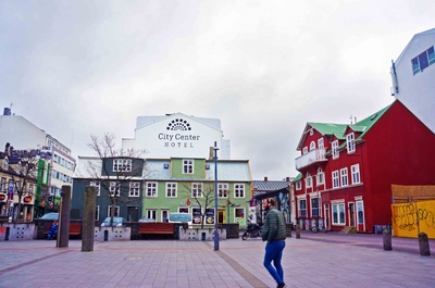 Calles de Miðborg, en el centro de Reikiavik