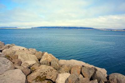 Bahía del fiordo de Reikiavik, Islandia