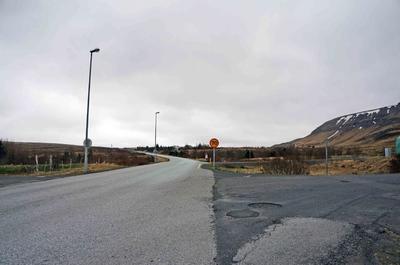 Carretera en el Círculo Dorado de Islandia