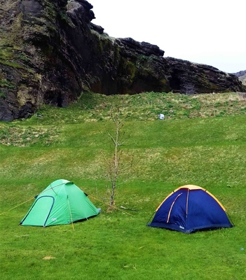 Camping en Vík, Islandia
