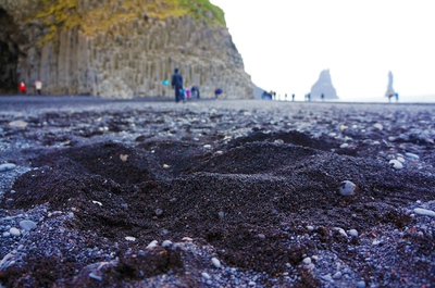 Playa negra de Reynisfjara, Islandia