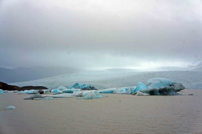 Laguna del glaciar Vatnajökull, Islandia