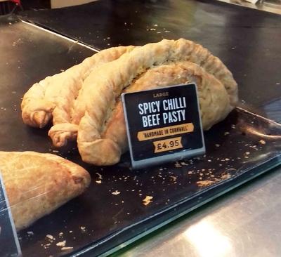 Beef pasty, bocadillo típico en Londres