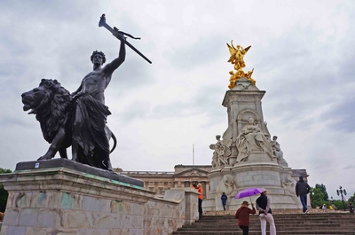 Monumento a la reina Victoria en Londres