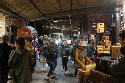 Mercado en el Barrio Camden en Londres