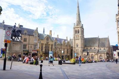 Plaza del mercado en Durham