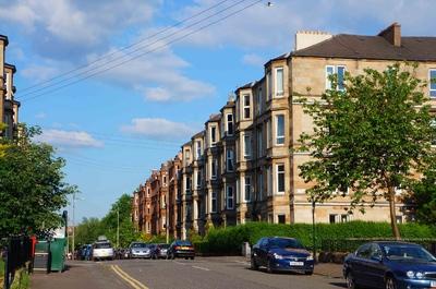 Calles de los suburbios de Glasgow
