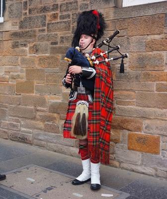 Gaita escocesa en Edimburgo
