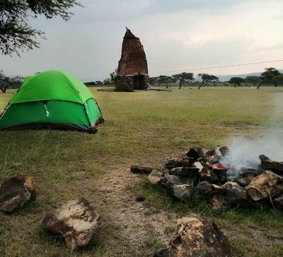Camping en Peña del Aire, México