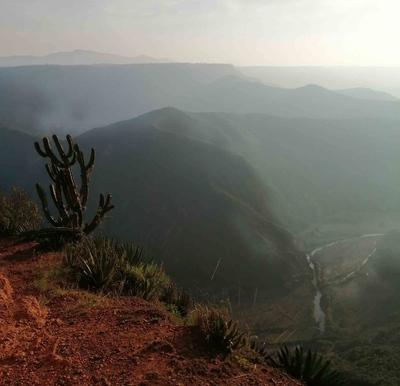 Cañón en Peña del Aire, México