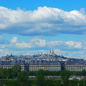 Vista de Montmartre desde el Museo de Orsay, París