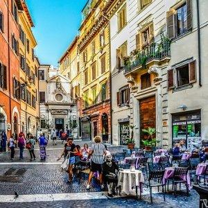 Roma calles comerciales