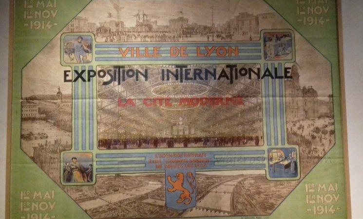 Cartel de la Exposición Internacional de Lyon