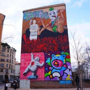 Mural en la Croix-Rousse, Lyon
