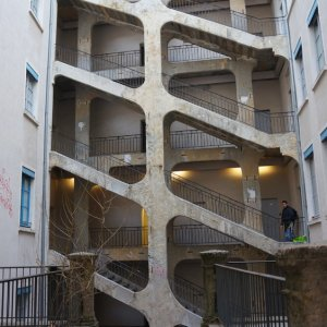 Edificio típico de la Croix-Rousse, Lyon