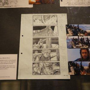 """Storyboard de """"Troya"""", Museo del cine en Lyon"""